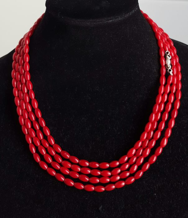 XL Necklace of Coral - length 200 cm