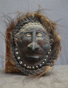 A unusual Mask from the Sepik River area + provenance - PNG
