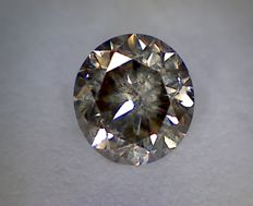 Diamond - 0.61 ct - Brilliant cut - Vivid Brown VS1