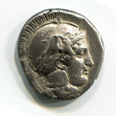Greek Antiquity - Magna Grecia – Lucania, Thurium Mint - 420-400 BC – Silver Stater or Nomos (7,68 gr., 22 mm.)