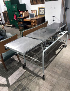 Antique autopsy stretcher.