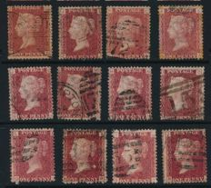 Great Britain 1856/1882 - Collection including penny reds plates 71/224