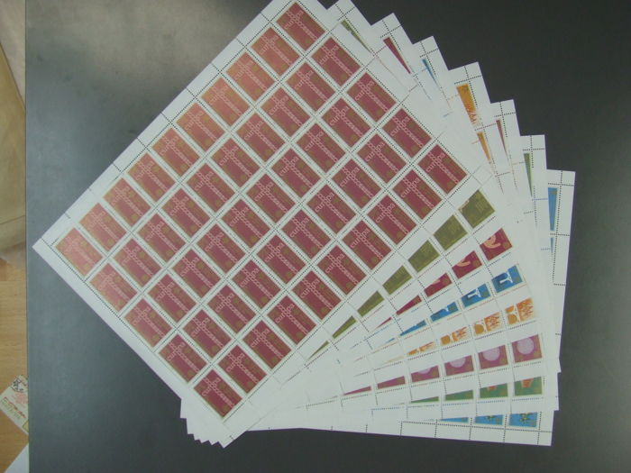 Yugoslavia 2005 - sheet sets, 15 each, 120 sheets, Yugoslavia 2005, sheet sets Mi no. 3257 – 3264