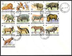 "Burundi 1983 - FDC with set ""Animals from Africa"" and WWF overprint - COB 892/894"