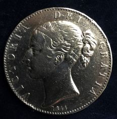 United Kingdom - Crown 1844 Victoria - silver