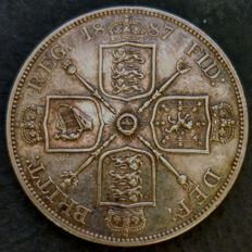 United Kingdom - Double Florin 1887 Victoria - silver
