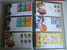 The Netherlands 2003/2008 - FDCs 6 complete years in Davo album