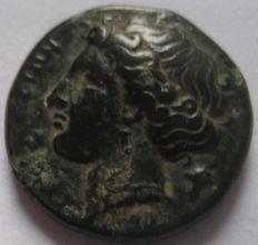 Greek Antiquity - Syracuse Agathokles  317-289 BC. AE 15