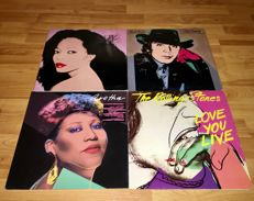 Andy Warhol Lot: Lot of Four Lp's All With Andy Warhol Art on Covers and Inserts In Top Condition!