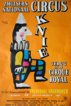 Herbert Leupin - Zwitsers Nationaal Circus Knie in de Cirque Royal - 1960