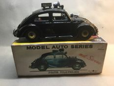 Bandai, Japan - Length 20 cm - Volkswagen Beetle Amsterdam police with friction motor, 1950s/60s