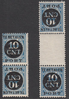 The Netherlands 1924 - Postage due tête-bêches - NVPH P67a/b