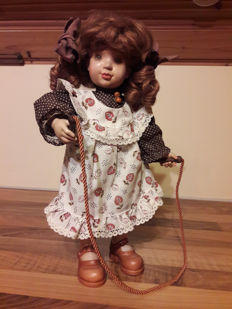 Sarah Kay wood doll by Anri Made in Italy