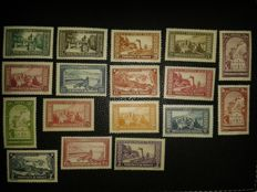 Monaco - Selection of Stamps including Yvert n° 371 to 375, 376 to 378 and 119 to 134