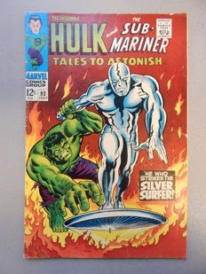 Marvel Comics - Tales of Astonish #93 - Continues first Silver Surfer crossover -  1x sc - (1967)