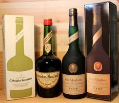 2 old bottles: 1. Yvetot Normandie Calvados Boulard, XYO, 43%vol, 70cl, orig. Box +2. Père Magloire Grand Fine Calvados, VSOP, 40%vol, 70cl, orig. Box
