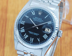 Rolex 1601 Buckley 18K White Gold & S/S DateJust Automatic Watch!