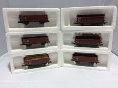 Roco H0 - 4314 (2x), 46058, 47819, - and Piko H0 - unknown number (2 x) freight cars; total 6 pieces (2391)