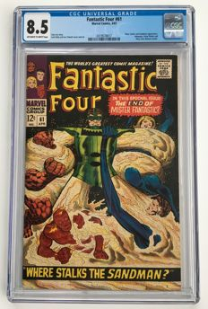 Marvel Comics - The Fantastic Four #61 - CGC Graded 8.5 - very high grade - 1x sc - (1967)