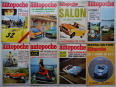 1971 - 1972 - AUTOPOCHE french car magazine - mixed lot of 8 car magazines