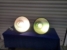 Unknown designer - Lot of industrial lamps