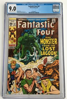 Marvel Comics - The Fantastic Four #97 - CGC Graded 9.0 - Very High Grade - 1x sc - (1970)