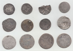 Provincial Netherlands and Southern Netherlands - 12 coins - silver