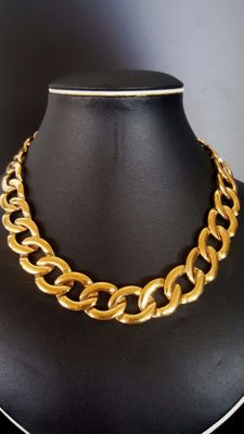 Rare NAPIER 18kt gold plated necklace with serial number