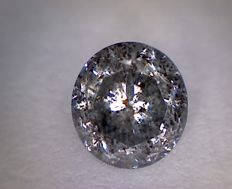 0.73 ct brilliant-cut diamond, greyish silver I2.