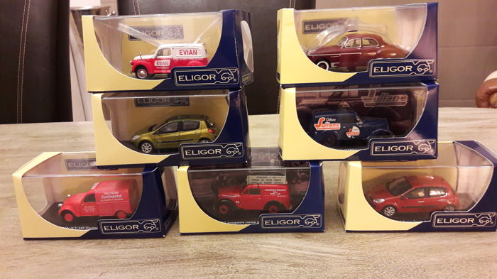 Eligor - Scale 1/43 - Lot with 7 models: Renault, Citroen & Panhard,
