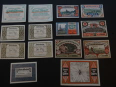 Germany- 1916/22 Collection of emergency money incl. occupied territories (68 different ones)