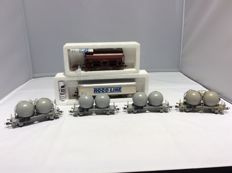 Roco H0 - 4325, 46400, 46418 - 6 pieces freight cars (2395)