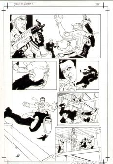 Francisco Paronzini - Original Art Page - Dead to Rights #1 - Page 35 - (2002)