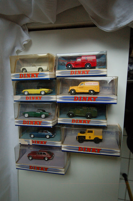 Dinky Matchbox - Scale 1/43 - Lot of 9 British cars