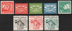 The Netherlands 1921/1929 - Selection Airmail - NVPH LP1 up to and including LP8
