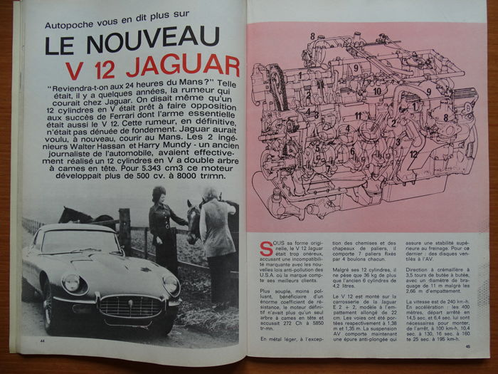 1971 1972 Autopoche French Car Magazine Mixed Lot Of 8