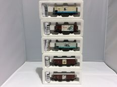 Roco H0 - 47653, 47283, 47284, 47345, 47817 - 5 pieces freight cars (2393)