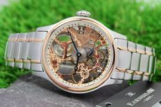 Thomas Earnshaw Bauer Mechanical Hand-winding - Skeleton Dial Watch - New & Mint Condition