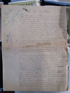 Léon Xanrof - 6-page original manuscript. Article on the streets of Paris - no date (late 19th early 20th)