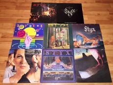 """Lot with 8 Art Rock classics : 8 STYX albums: """"Pieces of Eight"""",""""Paradise Theatre"""",""""Cornerstone, """"Best Of"""", """"Kilroy was Here"""",""""Equinox"""",""""the Grand Illusion"""",""""A Collection Of"""