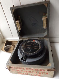 RAF WW2 aeroplane compass, type P11 as used in Spitfire and Hurricane planes
