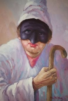Unknown Artist (20th/21st century) - Pulcinella Portrait