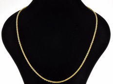 18k Gold Necklace. Chain - 55 cm. Weight 6.67 g. No reserve price.