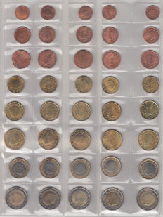 Belgium - year sets of euro coins 2002/2012 (11 items)