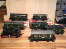 Fleischmann HO-6 ANSBACH carriages and loco-tender