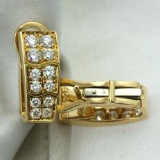 Signed 'PIAGET' 1ct Diamond Earrings, as new. Dimensions: 15 x 6mm