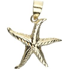 14 kt Yellow gold pendant in the shape of a star fish.  - length x width: 2.5 x 2 cm