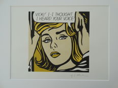 Roy Lichtenstein Lithograph Print - Vicki I..I Thought I Heard Your Voice - Printed Signature On Plate