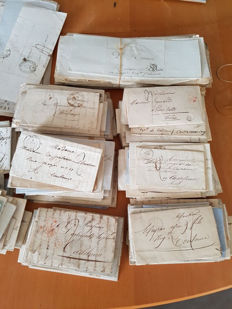 France - Lot of 495 letters from 19th century.