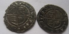 United Kingdom - Penny Elizabeth I 1558-1603 (Second issue 1560-1561) mintmark Cross-Crosslet (two pieces) - silver